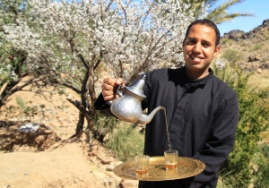 Mint tea - essential for voluntourism in Morocco