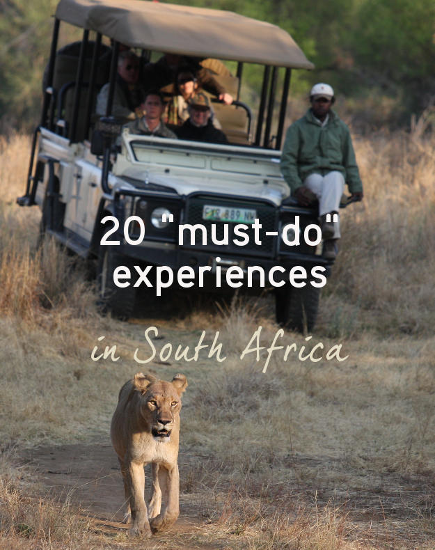 """20 """" must-do"""" experiences in South Africa"""