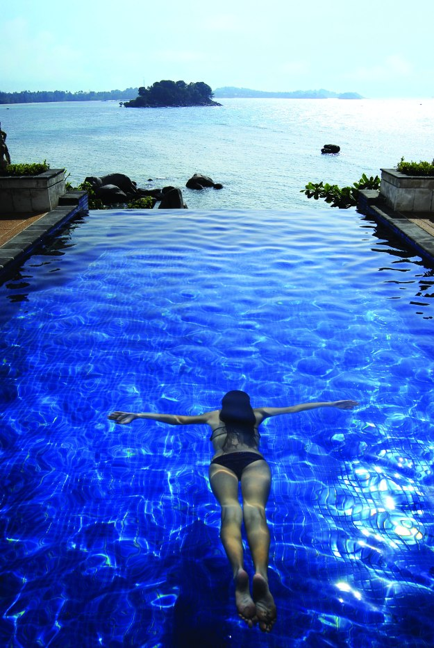Swim in a gorgeous hotel pool